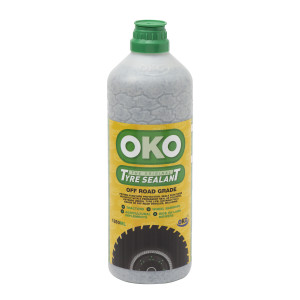 1250ml bottle of OKO Off road with green lid, yellow label and a tyre image to front