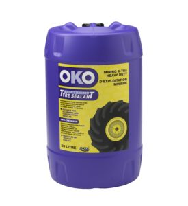 Front view image of purple 25L oko mining x-tra heavy duty in drums with yellow label