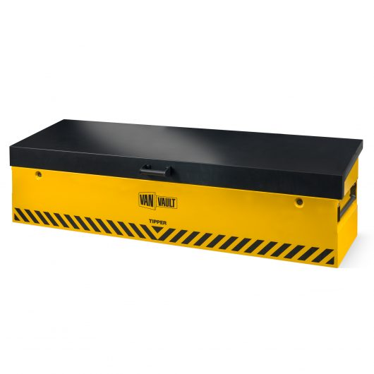 van vault tipper with lid closed securely