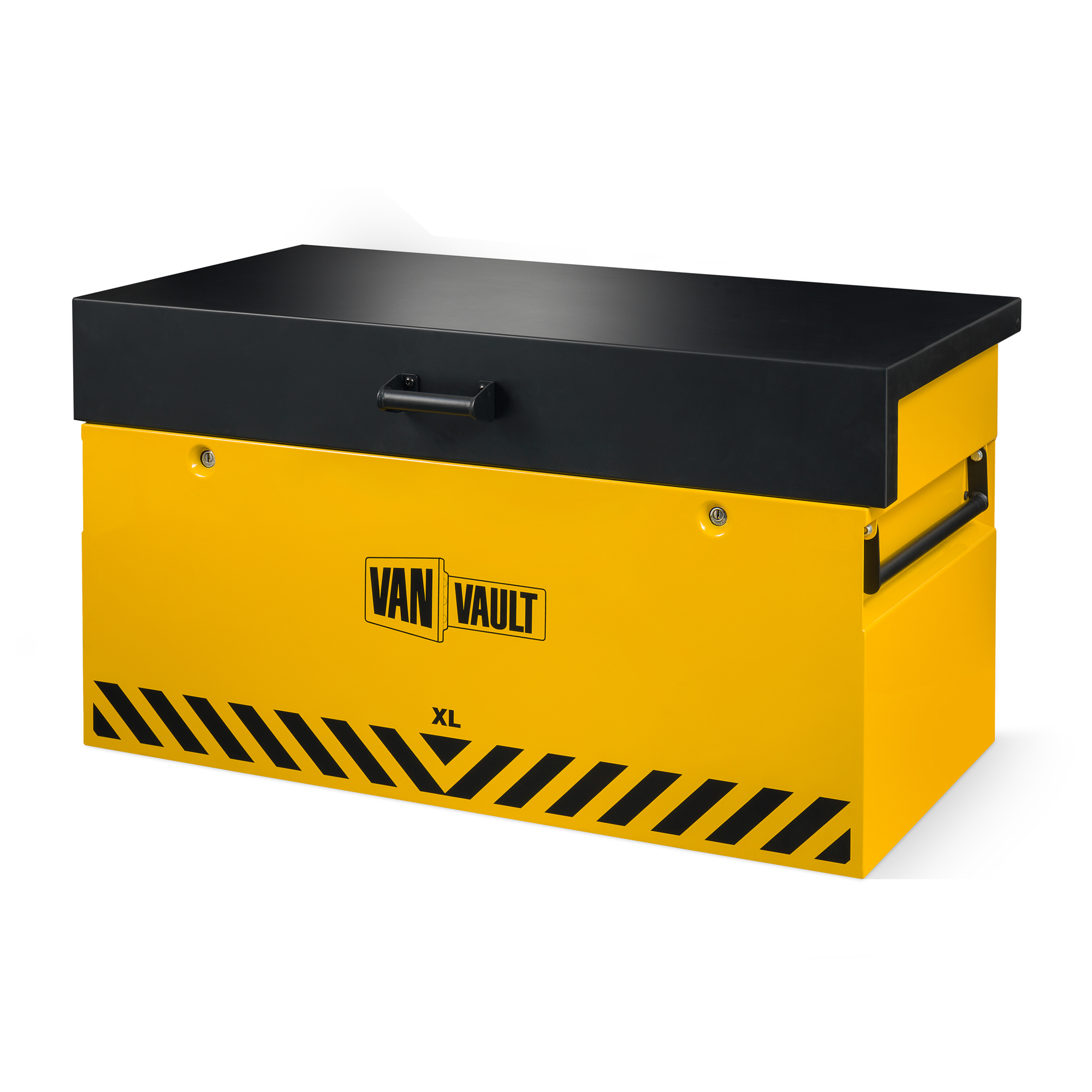 new van vault xl with lid securely down