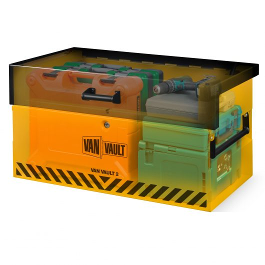see through image of van vault 2 full of tools with lid closed