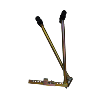 Block lifter with robust galvanised finish, 2 soft grip rubber handles and replaceable hardened steel wedge