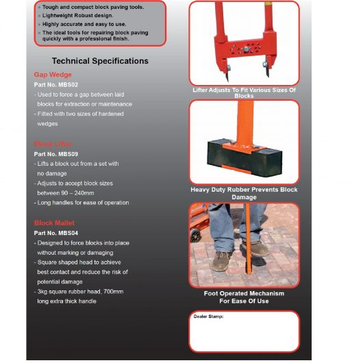 Belle Block Paving Lifter Tool MBS09