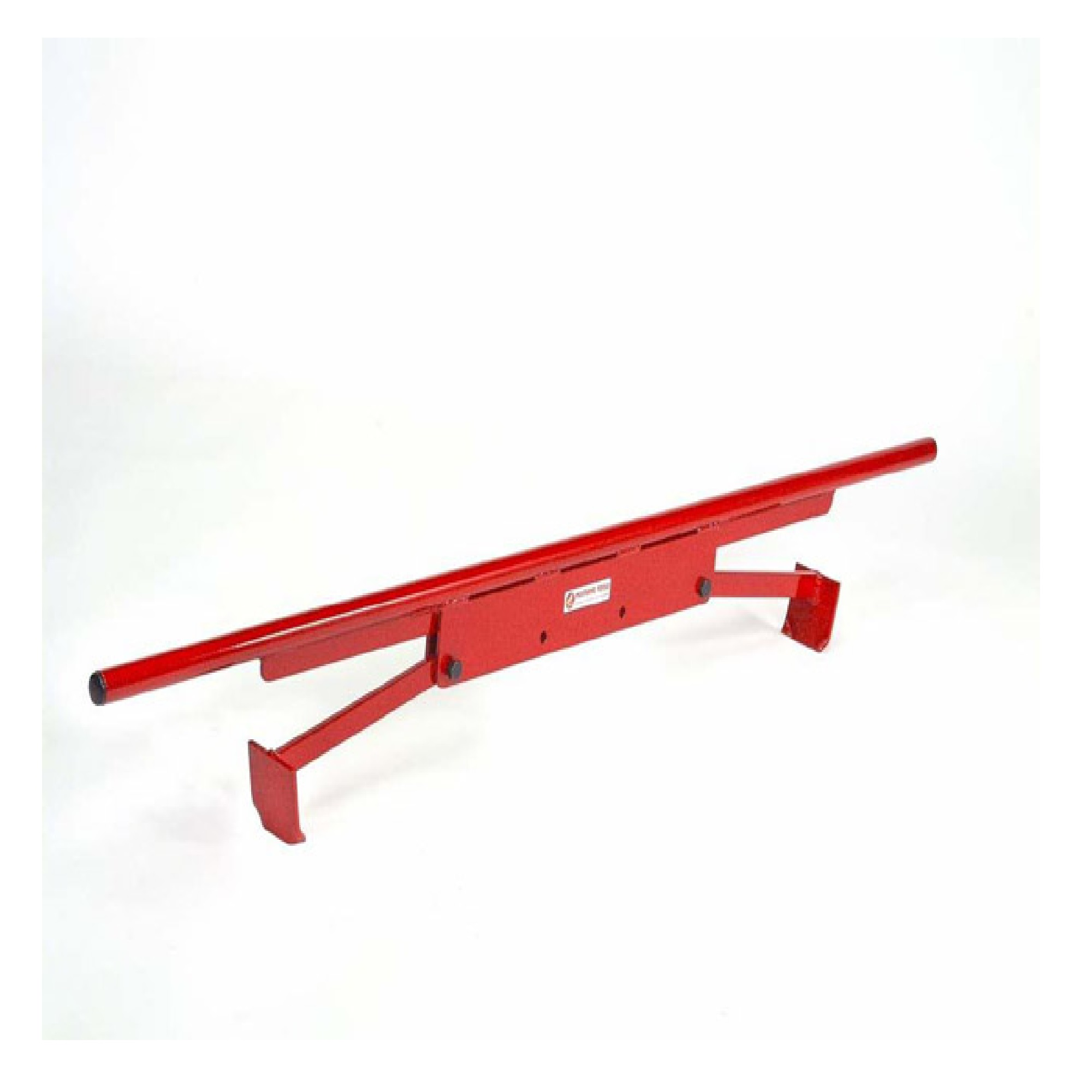 Red steel end gripping kerb/slab lifter from Mustang on a white background