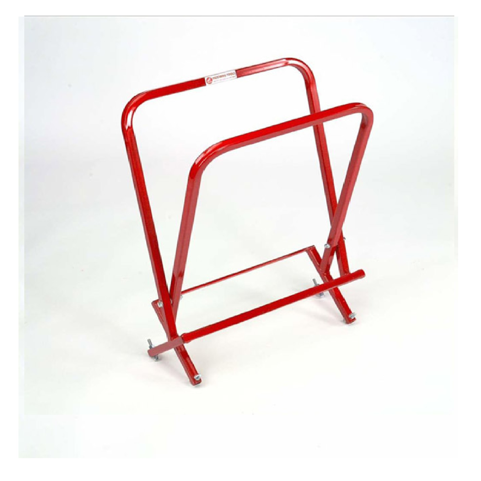 Red steel side gripping kerb lifter from Mustang on a white background