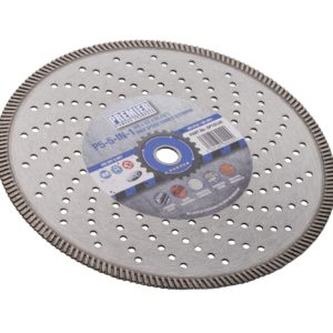 115 x 2.2 x 10 x 22.2mm P5 5in1 perforated diamond blade 115 with blue and grey Premier branded label in the centre