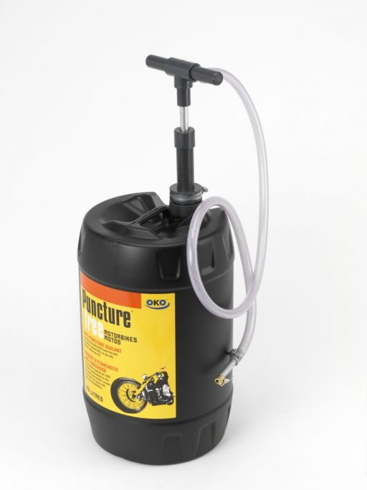 OKO 25L Puncture Free On-Road for Motorbikes, Mopeds and Scooters With a Pump