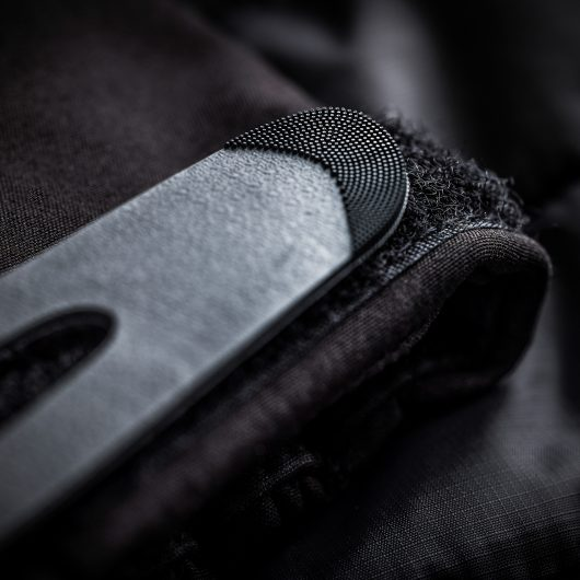 Close up of the adjustable velcro cuffs on the Scruffs expedition thermo softshell jacket