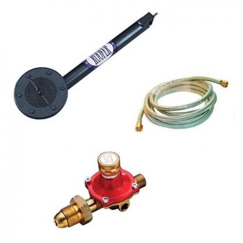 Impact boiler burner kit including impact boiler burner, 5m armoured hose and gold and red gas regulator
