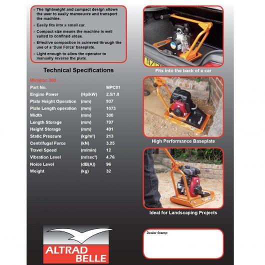 Belle Minipac 300 Wacker Plate Compactor