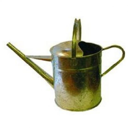 3 gallon narrow spout pouring can with handles made from reinforced steel on a white background