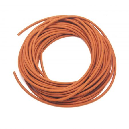 Orange 1 metre spare rubber hose for food quality