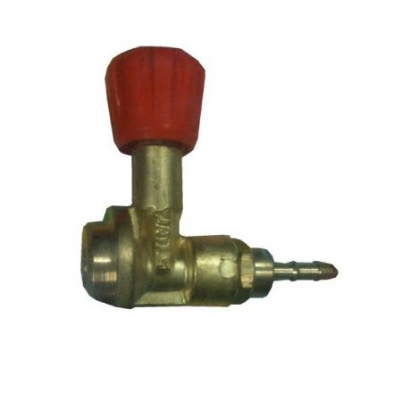 Metal Oxyturbo gas regulator with red knob