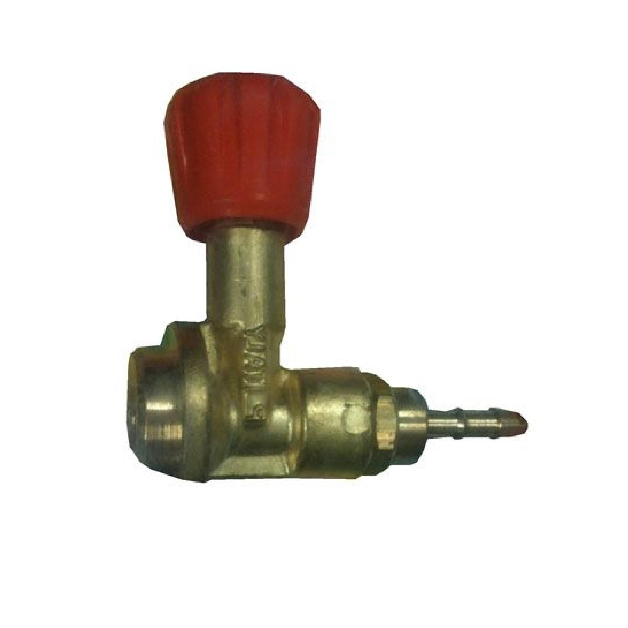 Metal Oxyturbo gas regulator with red knob