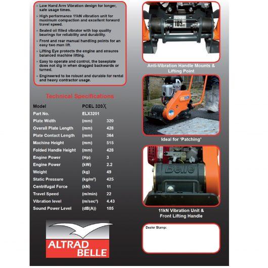 Belle PCEL 320X Wacker Plate Compactor