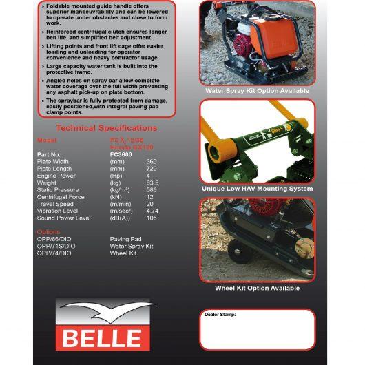 Belle PCX 12/36 Wacker Plate Compactor