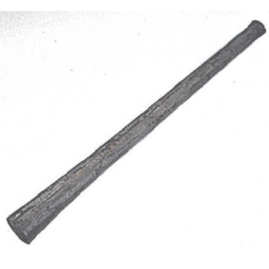 Pick/mattlock shaft handle with shaft for pick at one end and mattock on the other on a white background