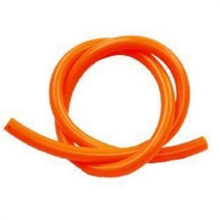 8mm orange propane hose on a white background