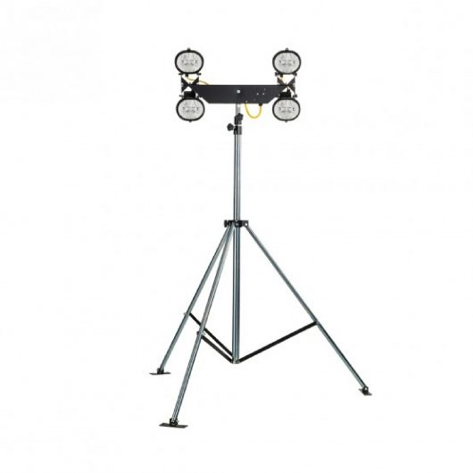 Defender Four Halogen Floodlights 110v with Heavy Duty Folding Tripod