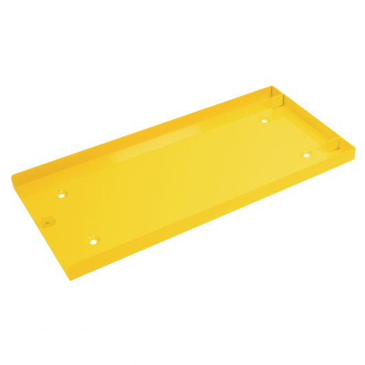Yellow fully phosphated sheet steel Van Vault mobi docking station with reinforced mounting points, on a white background