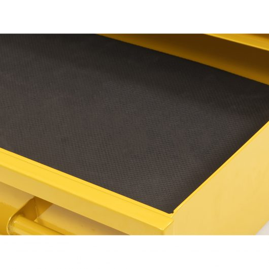 Close up of the black foam in-lay in the Van Vault stacker XL drawer