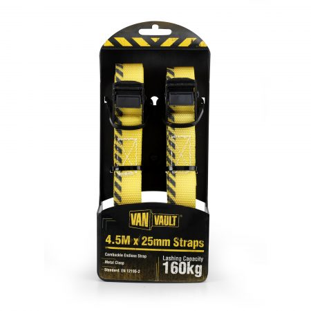 Van Vault 4.5M x25mm Endless Strap (Pair)