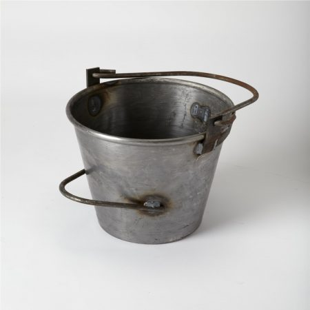 10L spun steel bucket with multiple handles for use with asphalt/bitumen on white background