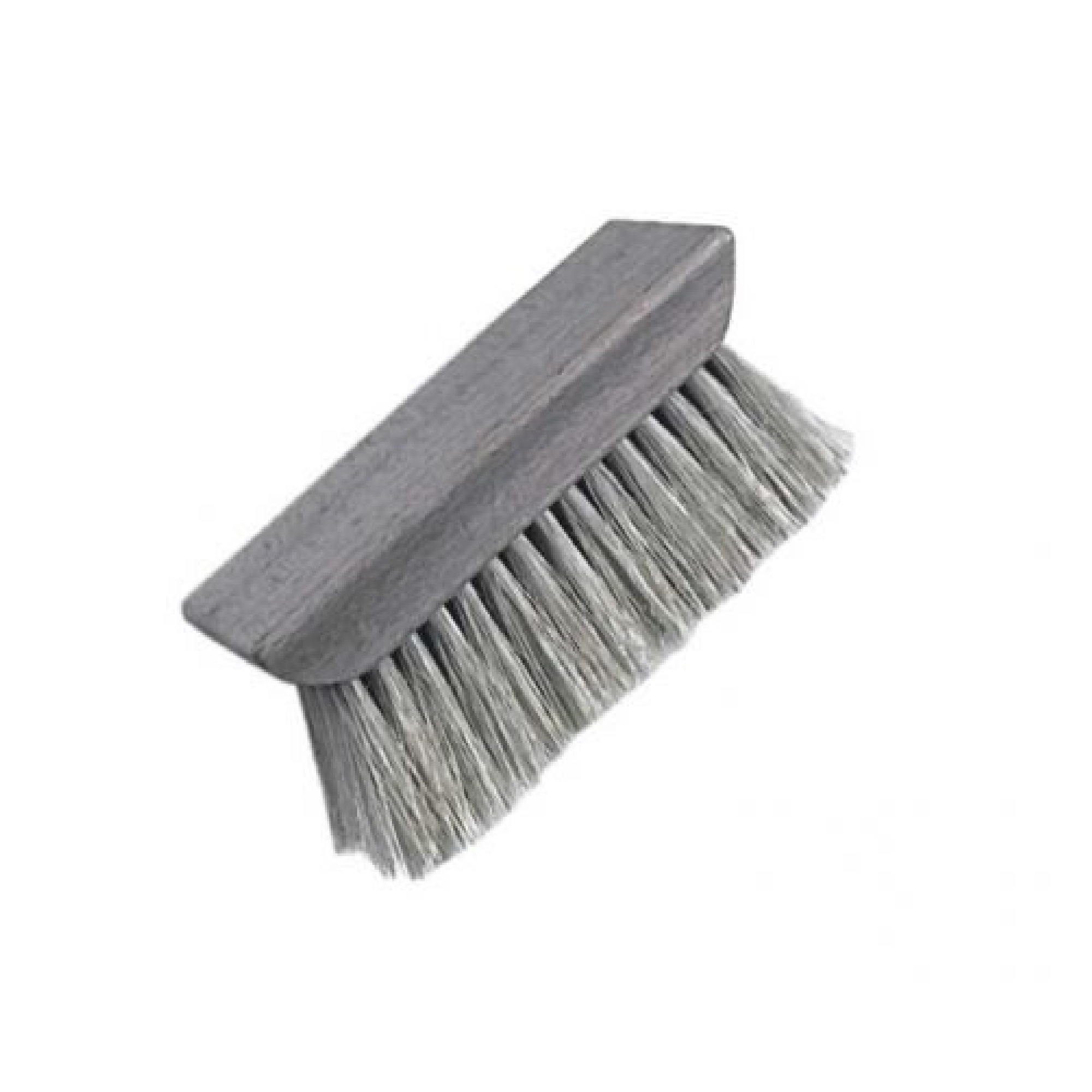 felt roofing wetting brush with wooden head on a white background