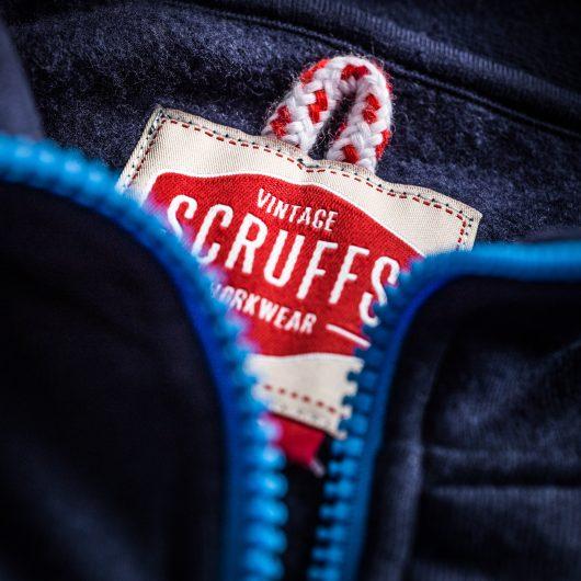 Scruffs Vintage Zip Thru Fleece Navy Blue