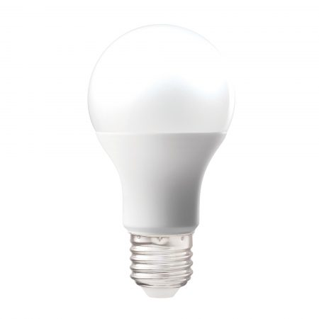 Defender LED light bulb with Edison Screww fitting, on a white background