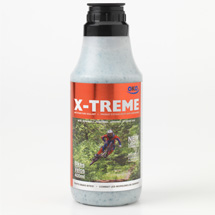 400ml bottle of OKO X-Treme tyre sealant with black lid and orange label with cyclist on, on a white background
