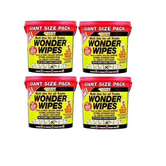 4 tubs of Wonder Wipes 300 wipes pack