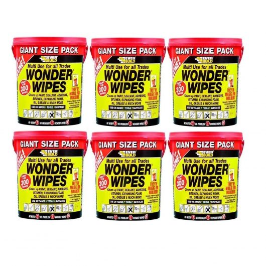 6 tubs of Wonder Wipes 300 wipes pack