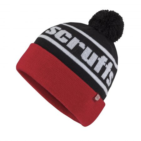 Scruffs Vintage Bobble Hat Red and Black