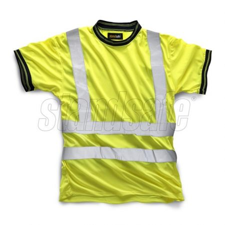 Standsafe Hi-Vis Yellow Crew Neck T-Shirt