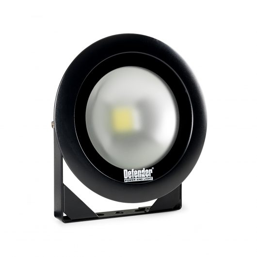 Single round Defender DF1200 LED light head mounted onto a universal bracket