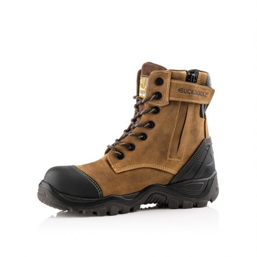 shows closed zip of buckler bsh008 safety boot