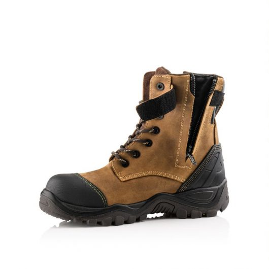 shows open zip of buckler bsh008wpnm safety boot