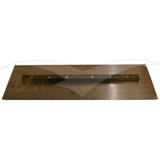Bronze coloured rectangular metal finishing blade for the Belle PRO 1200 trowel