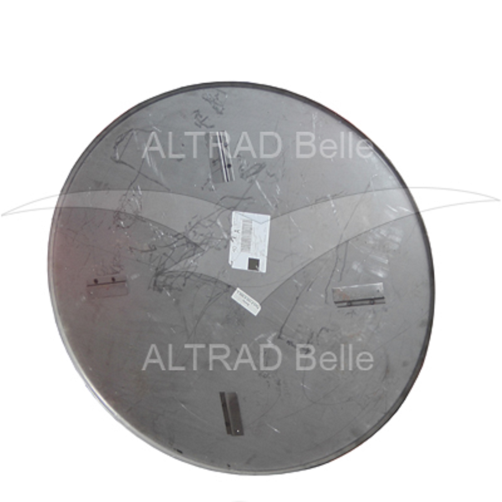 Silver circular metal float pan for the Belle PRO 1200 trowel
