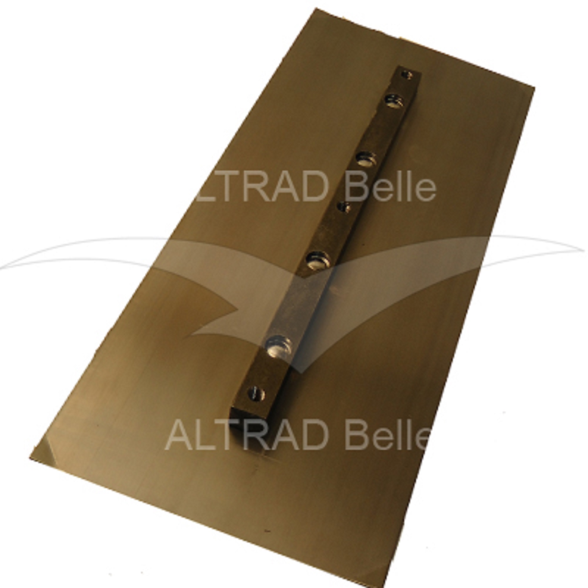 Bronze coloured rectangular metal finishing blade for the Belle PRO 900 trowel