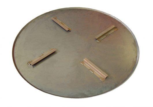 Silver circular metal float pan for the Belle PRO 900 trowel