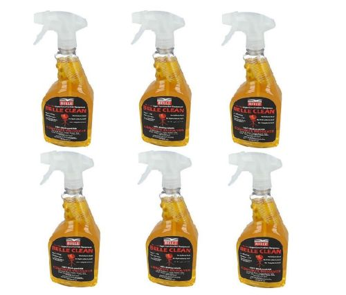 6 bottles of Belle clean concrete dissolver on a white background
