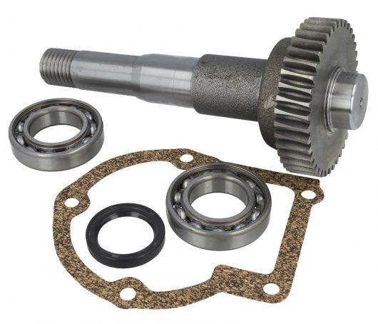 Drum shaft repair kit featuring 1 drive shaft, 2 shaft bearings, 1 shaft seal and 1 gasket for Belle minimix 150 mixer
