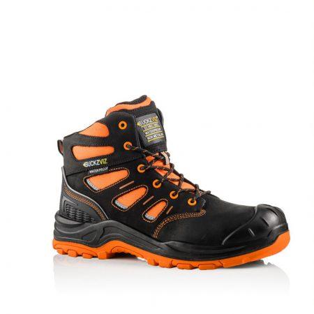 This image show Buckler Bviz2 orange/black safety boot