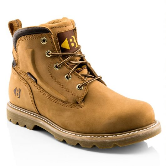 This image shows a side view of the Buckler B2800 non-safety lace boot
