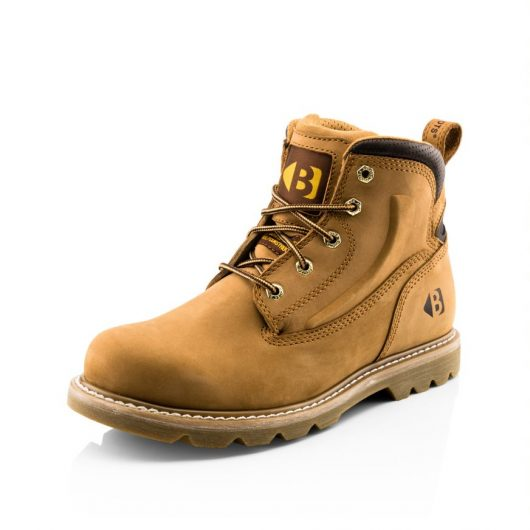 This images shows the Buckler B2800 lace up non-safety boot in Honey nubuck