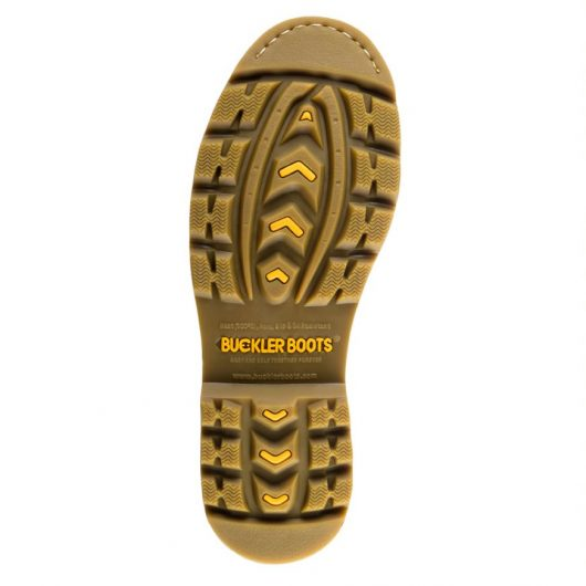 This image shows the rubber outsole of Buckler B2800 non-safety boot