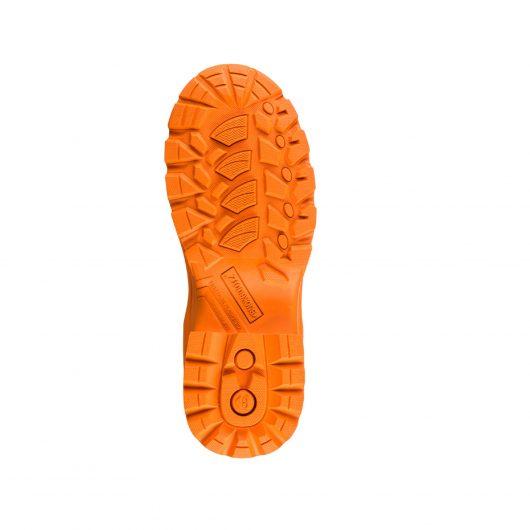 Image shows slip resistant orange sole of Buckler BBZ8000 Blue