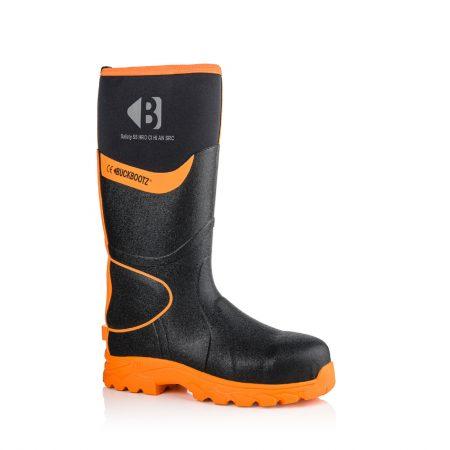 Image shows a side profile of Buckler BBZ8000 Black with orange hi-viz deailing